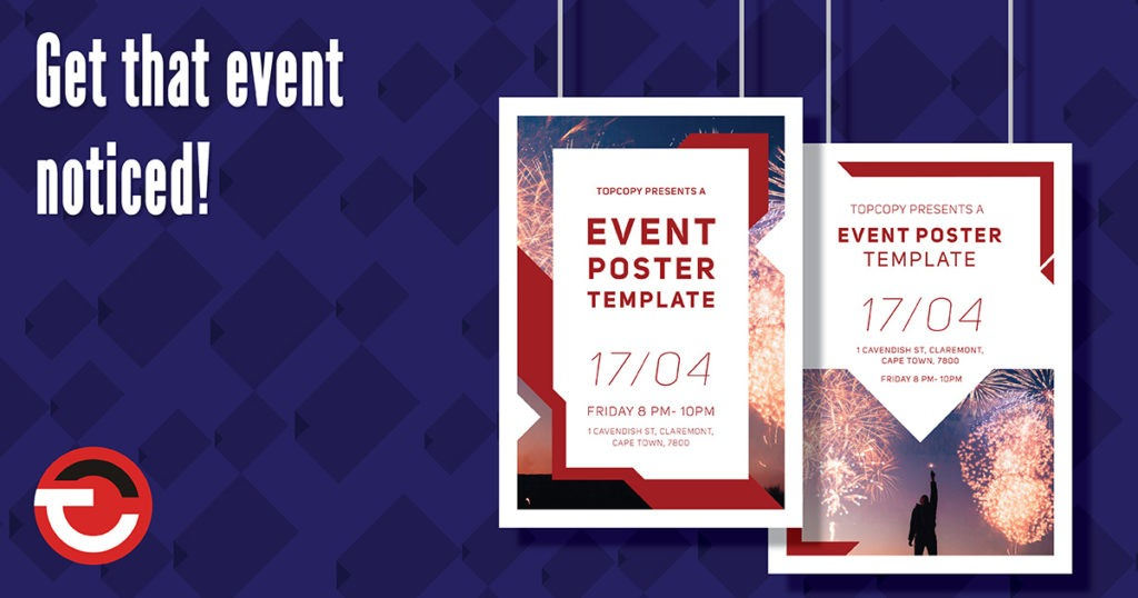 Event Poster templates available through topcopy