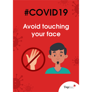 avoid touching your face poster