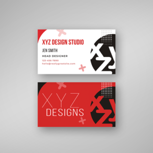product image business cards