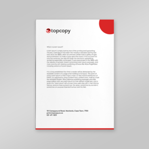 product image letterhead